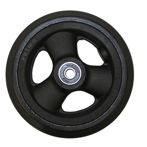"5 x 1"" HOLLOW SPOKE Caster Wheel Urethane Pyramid Tire"