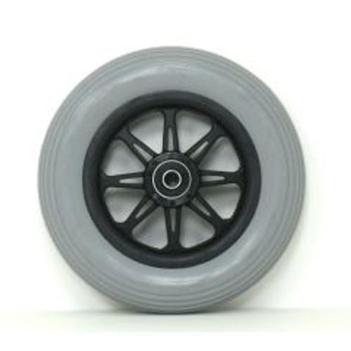 """6 x 1 1/4"""" JAZZY 6 SPOKE Caster Wheel Molded On Tire"""