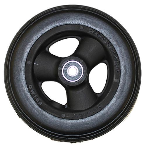 "6 x 1 1/4"" 3 SPOKE MAG Caster Wheel Urethane Round Tire"