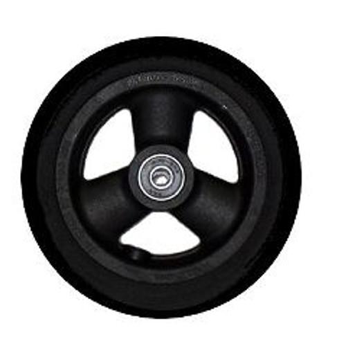 "6 x 1 1/4"" HOLLOW SPOKE Caster Wheel Urethane Round Tire"