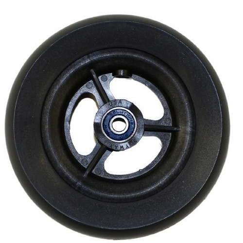 "6 x 1 1/2"" 3 SPOKE MAG Caster Wheel Urethane Wide Tire"