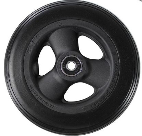 "7 x 1"" HOLLOW SPOKE Caster Wheel Urethane Round Tire"
