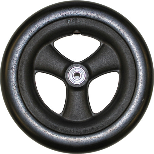 "8 x 1 1/4"" HOLLOW SPOKE Caster Wheel 1"" Hub Width Urethane Round Tire"