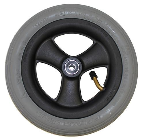 """8 x 1 1/4"""" HOLLOW SPOKE Caster Wheel 1"""" Hub Width Pneumatic Tire / Tube"""