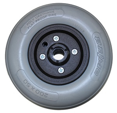 """8"""" x 2"""" INVACARE TWO PIECE CASTER 7/16"""" Bearings 2 1/2"""" Hub Width Urethane Tire"""