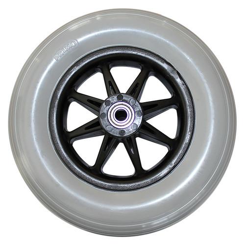 "8"" x 2"" JAZZY REAR ONE PIECE SIX SPOKE CASTER 2.375 Hub Width Molded-On Tire"