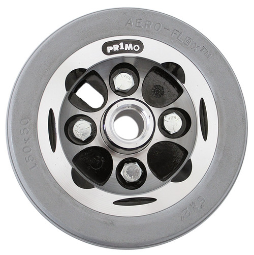 """6"""" x 2"""" ALLOY Two Piece Caster Urethane Wide Tire"""