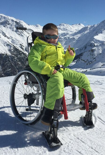 Wheel Blades  - Wheelchair skis for snow and sand (sold as a pair)
