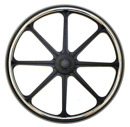 """24 x 1"""" ECONOMY MAG Fits 7/16"""" Axle Hard Rubber Tire"""