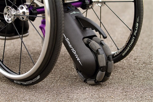 The SmartDrive MX2 segmented wheel.