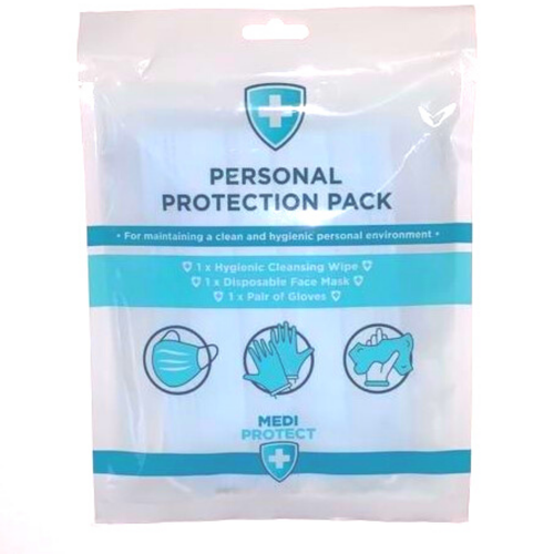 This Personal Hygiene Protection Pack is perfect for everyday use as well as offering to your clients in salon. Including 1 x Hygienic Cleansing Wipe, 1 x Disposable Face Mask and 1 x Pair of Disposable Gloves.