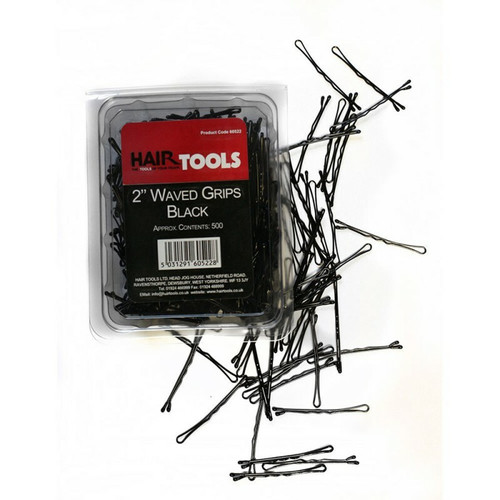 "Hair Tools 2.5"" Waved Grips Black x 500"