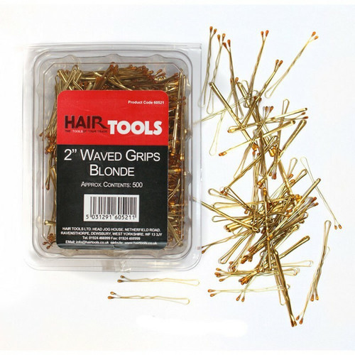 "Hair Tools 2.5"" Waved Grip Blonde x 500"