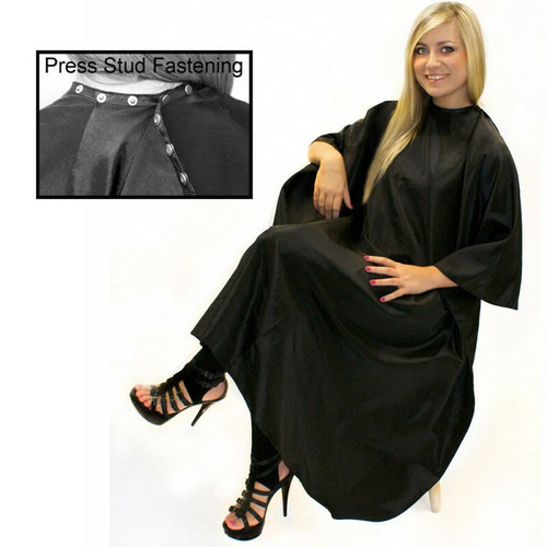 Hairtools Unisex Gown + Poppers Black (001036)