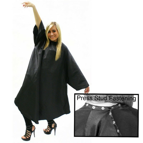 Hairtools Sleeved Gown + Poppers Black