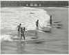 Lifeguard Paddleboard Competition Long Beach 1940s
