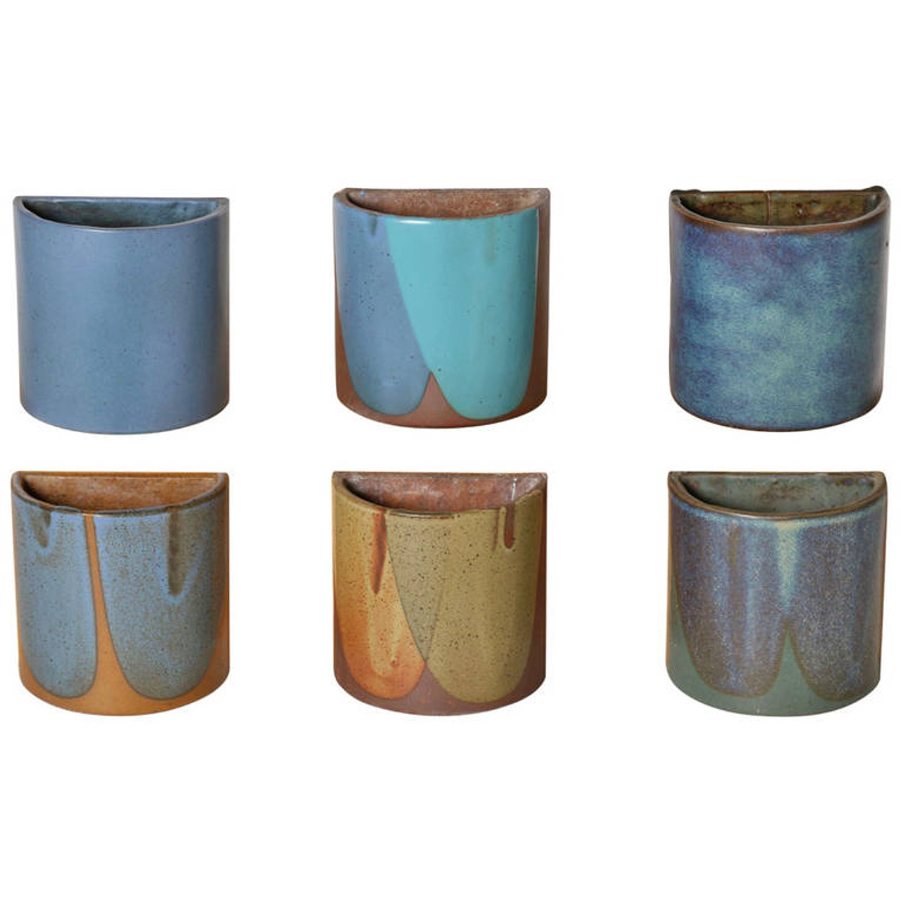 David Cressey Mid-Century California Stoneware Planter, Set of 6