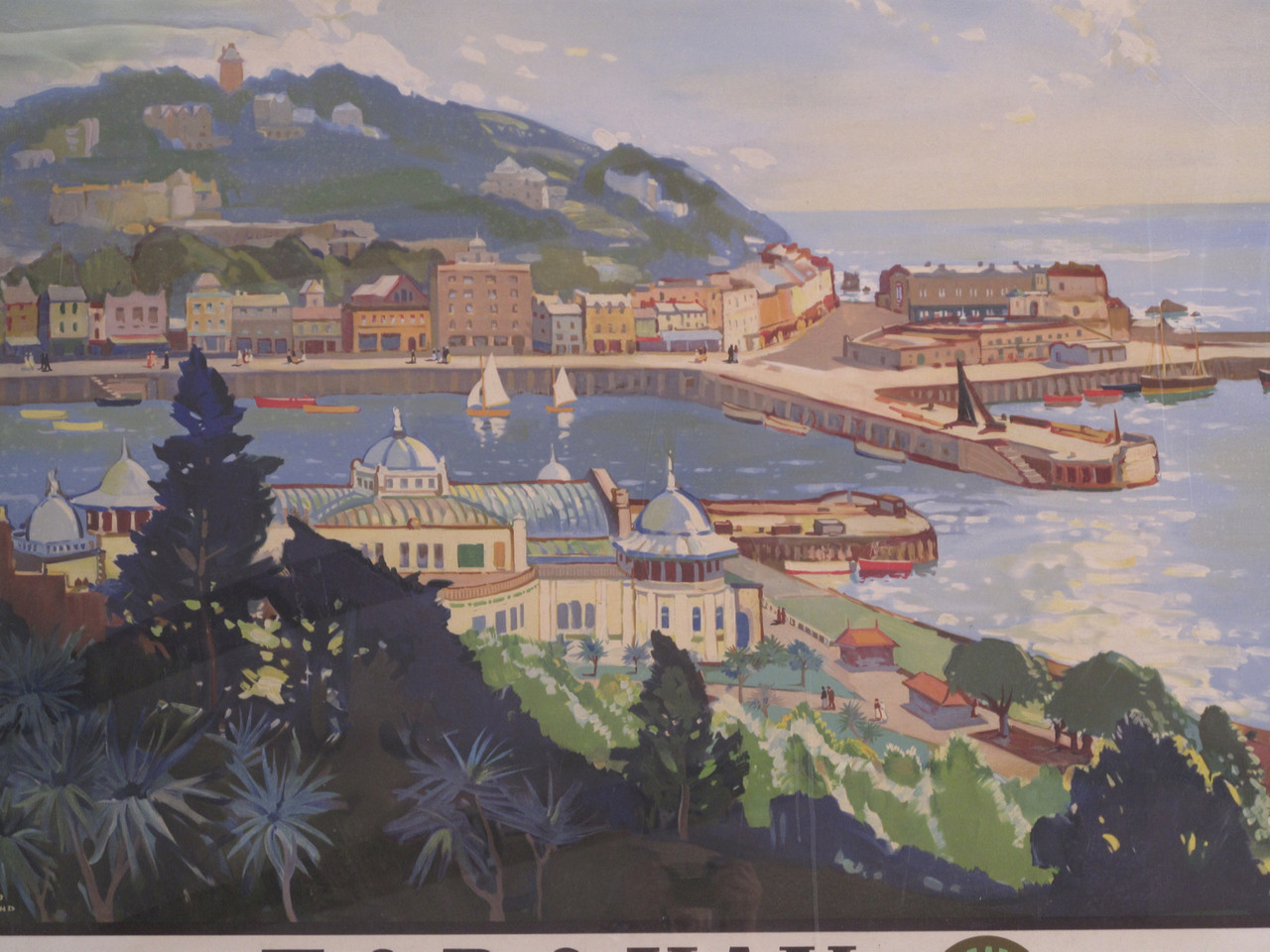 Very well. torquay railway vintage poster are