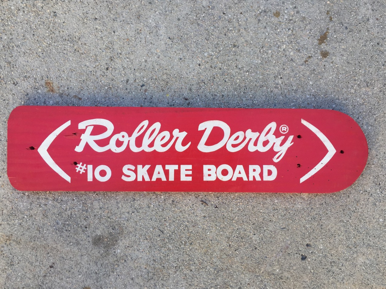 1960s Roller Derby #10 Skateboard, Unused Deck