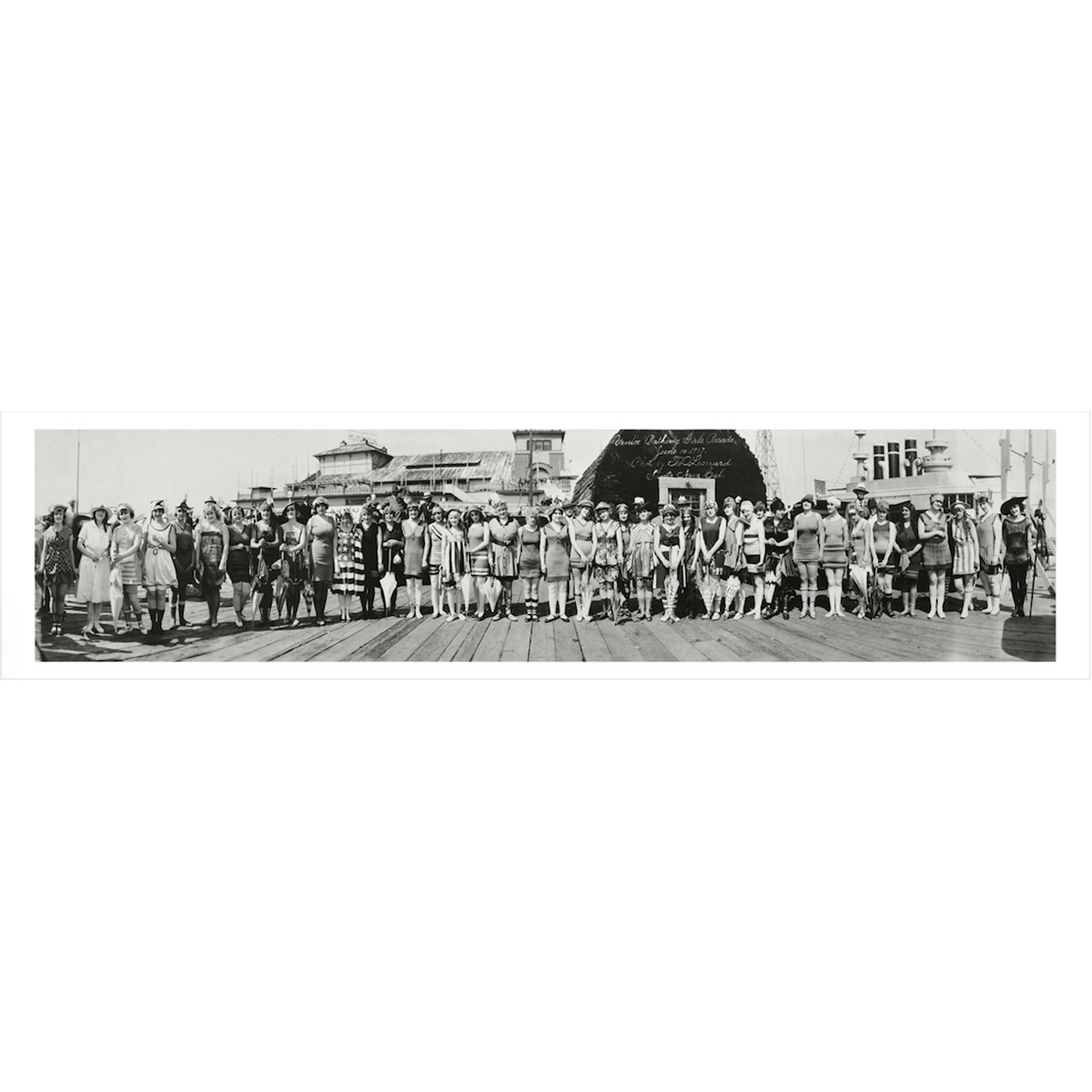 Venice Beach California Bathing Beauties Competition Panoramic Photograph 1917