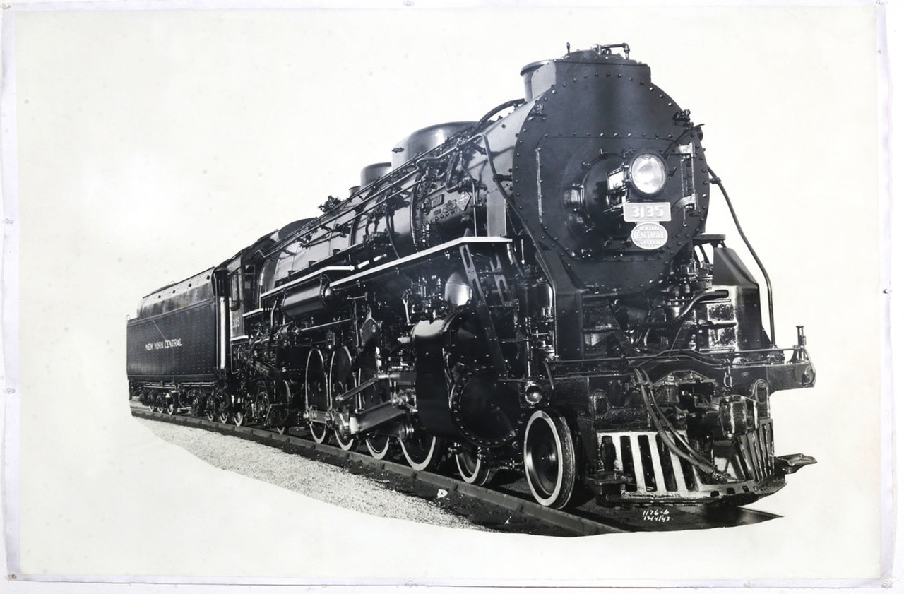 1940s New York Central Locomotive Train Photograph, #3135, Original, Oversize