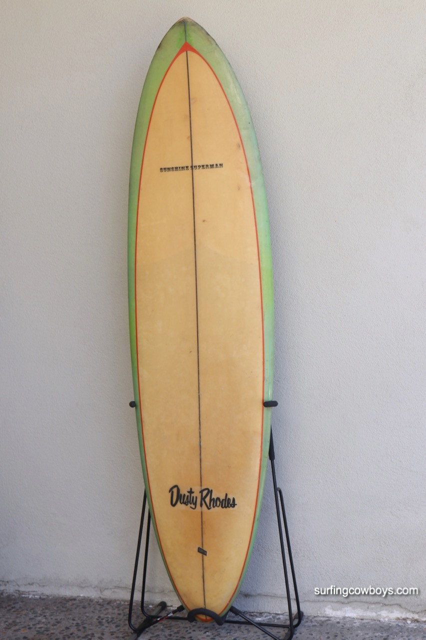 Dusty Rhodes Transitional Late 1960s Surfboard