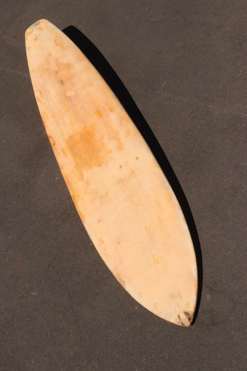 Early 1950's Dale Velzy - Hap Jacobs Balsa Wood Surfboard, Made in Venice CA