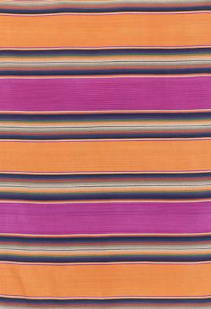Merino Wool Serape Blanket Fiesta Berry and Tangerine