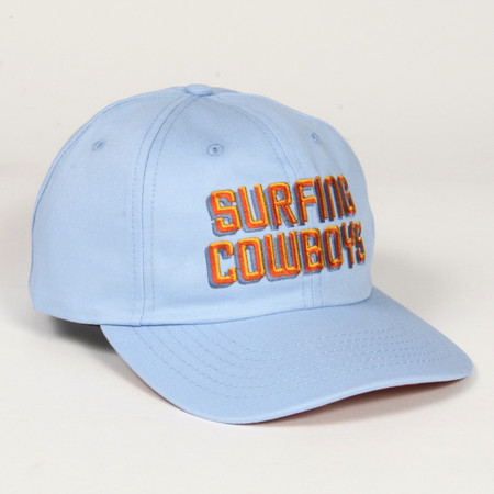 Surfing Cowboys Light Blue Logo Cap