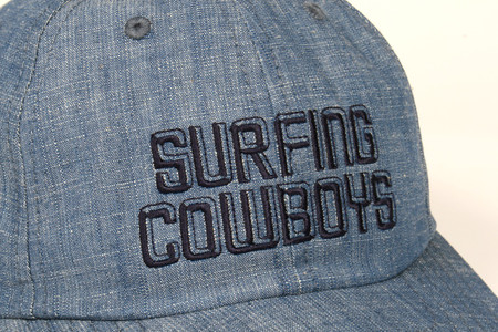 Surfing Cowboys California Style Denim Logo Cap  2 Made in the USA