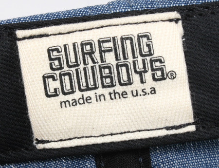 Surfing Cowboys California Style Denim Logo Cap  8 Made in the USA