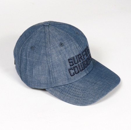 Surfing Cowboys California Style Denim Logo Cap  3 Made in the USA