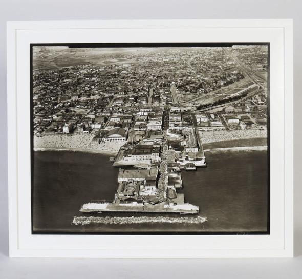 Aerial Photograph of the Original Venice Pier, circa 1930, Framed
