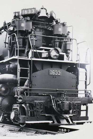 1940s Chesapeake & Ohio Locomotive Train #1633  Black and White Photograph, Original, Oversize