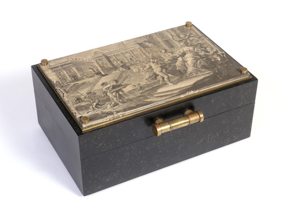 Decorative Storage Box In the Style of Fornasetti