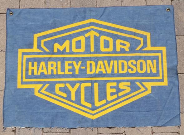 Harley Davidson Banner Original Vintage c1970s