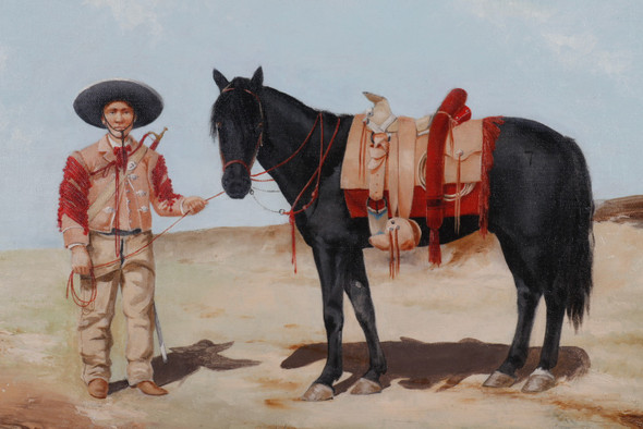 A Trumpeter of of the 7th Regiment of Mexican Rurales Painted by D. Carrall
