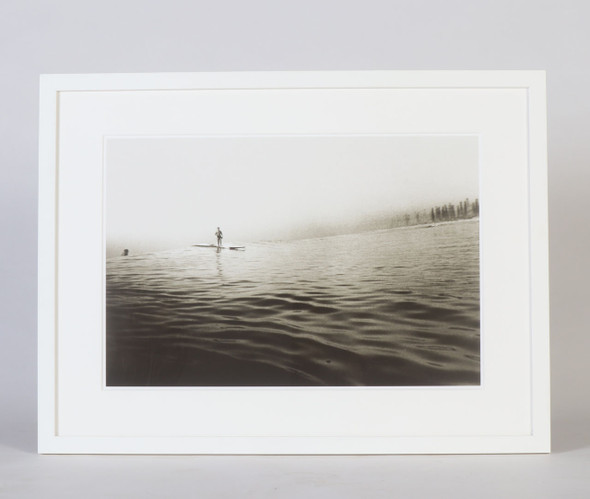 Surfing On Glass, Huntington Beach Black and White Surf Photograph, 1930s
