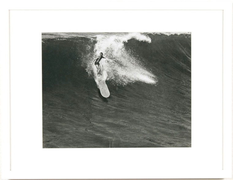 Surfer on Wave Black and White Photograph