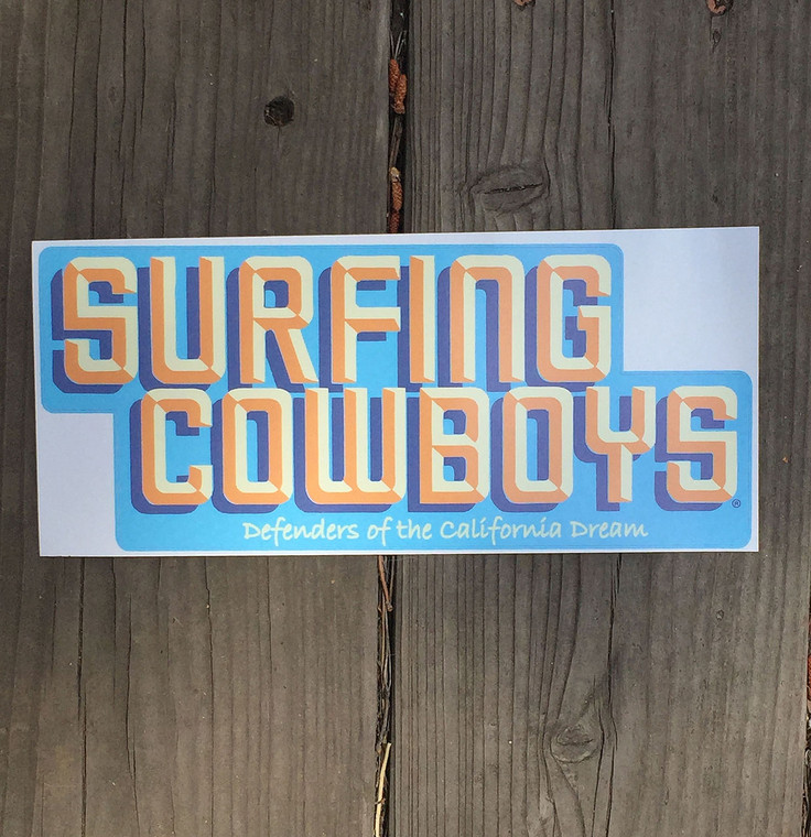 Surfing Cowboys Bumper Sticker