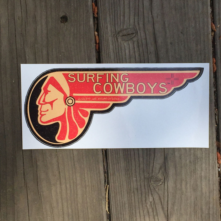 Surf Brave Bumper Sticker