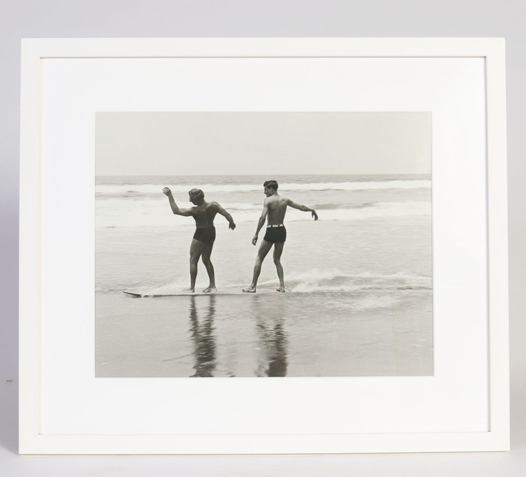 Twin-Skim 1930s Surf Photo Santa Monica CA