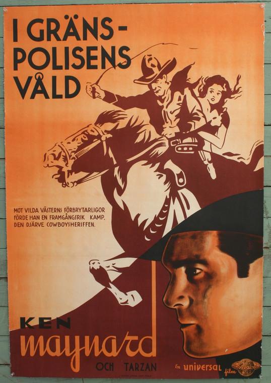Western Movie Poster, Ken Maynard