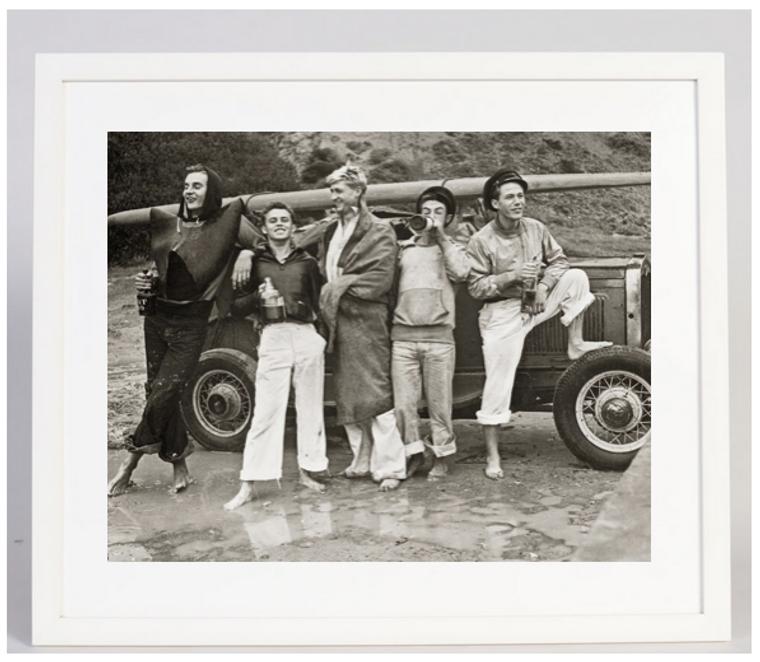 San Onofre Beach Sailors 1930s Photgraph Framed