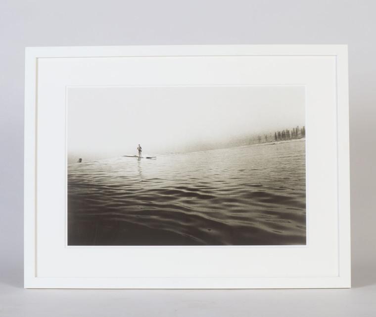 Surfing On Glass, Huntington Beach Surfing Photograph, 1930s