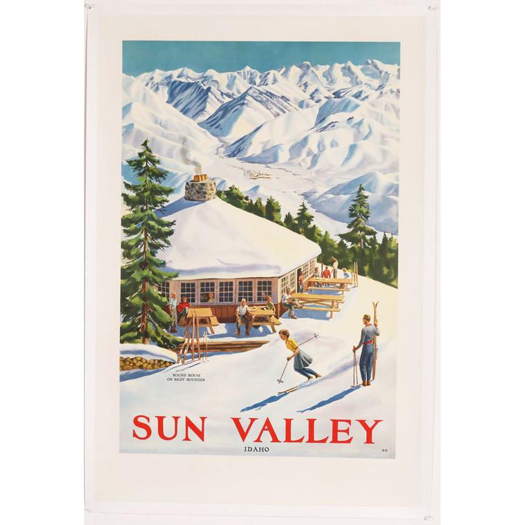 Mid-Century Sun Valley Idaho Travel Poster 1950s