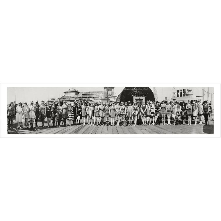 Venice Beach California Bathing Beauties Competition Panoramic Photograph 1917