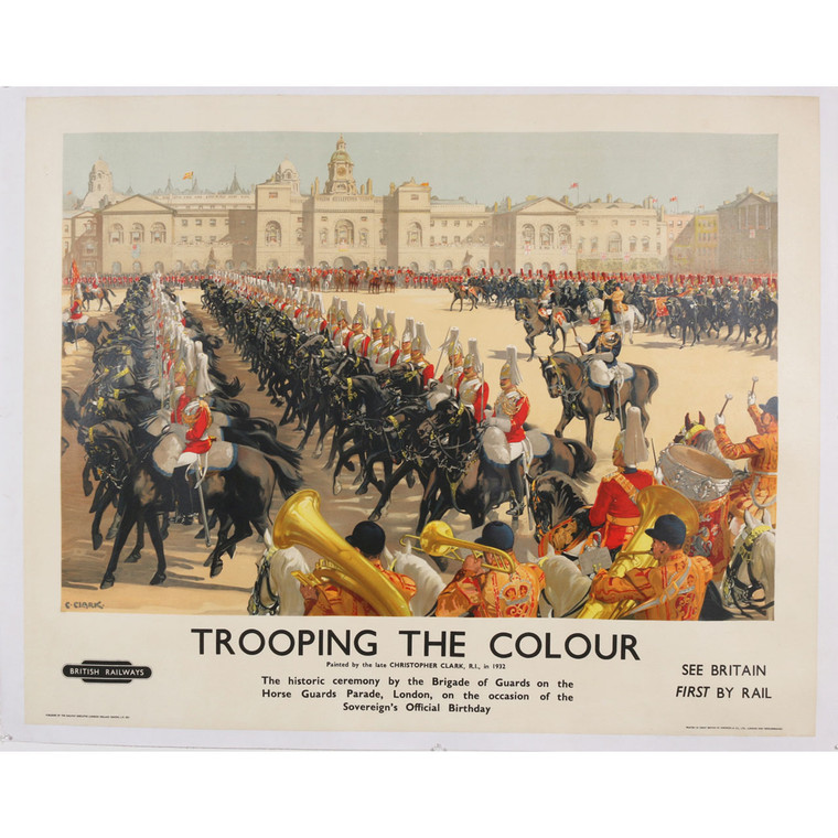 Trooping The Colour Original Travel Poster, 1935