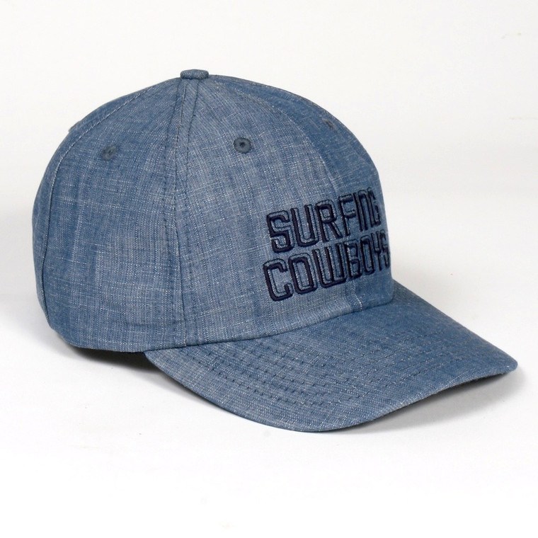 Surfing Cowboys California Style Denim Logo Cap Made in the USA