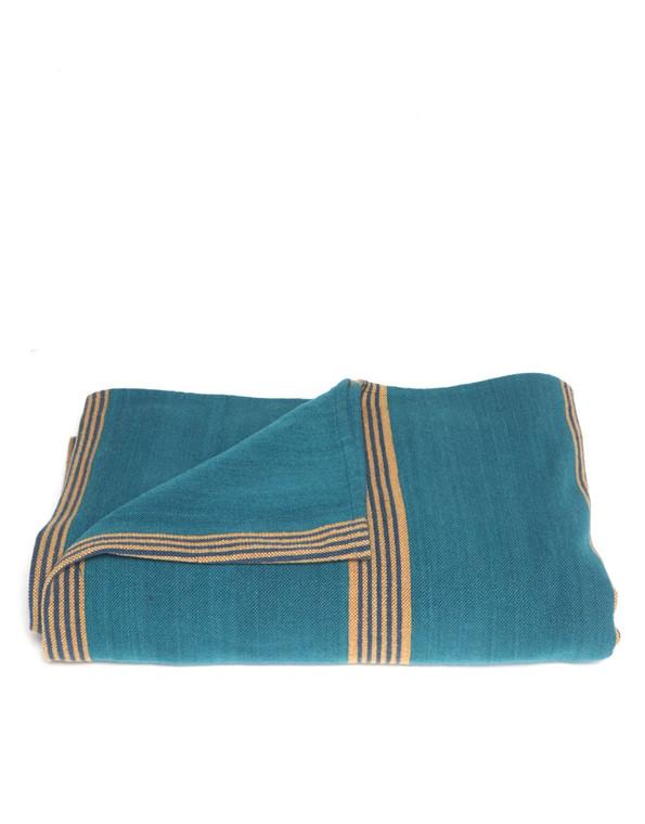 Small Stripes Turquoise Serape Blanket - pre-order